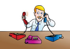 Busy call royalty free stock images