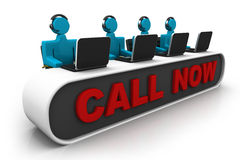 Busy call center operators Stock Photography