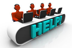 Busy call center operators Stock Image
