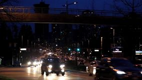 Busy car traffic stock video footage