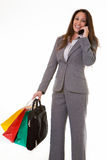 Busy Career woman Stock Photo