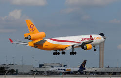 Busy cargo traffic at Miami Airport Royalty Free Stock Photos