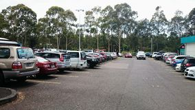 Busy Carpark Stock Image