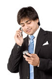 Busy on cell phone Stock Images