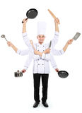 Busy chef concept royalty free stock images