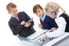 Busy children Royalty Free Stock Photo