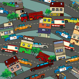 Busy city Royalty Free Stock Image