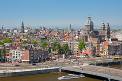 Busy city life of Amsterdam Royalty Free Stock Photography