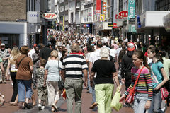 Busy city Nijmegen in the Netherlands Royalty Free Stock Photos