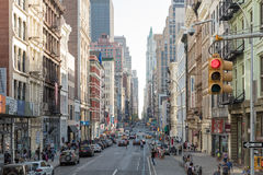 The busy city of NYC, New York, USA stock images