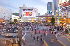 Busy city in Tokyo Japan Stock Images
