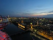A busy city. View from the london eye Royalty Free Stock Images