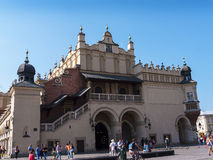 The Busy Cloth Hall on the main Market Square in Krakow, Poland is a haven for shoppers Stock Photography