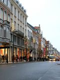 Busy commercial street in Leuven Stock Image