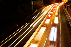 Busy commuter freeway Royalty Free Stock Image