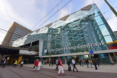 Free Busy Commuters In Front Of Den Haag Central Railway Station Royalty Free Stock Photography - 48430057