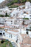 Busy, compact town or Pueblo of Mijas in Spain Royalty Free Stock Images