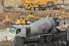 The busy construction site in SHENZHEN SHEKOU Stock Photography