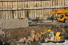 The busy construction site in SHENZHEN SHEKOU Royalty Free Stock Images