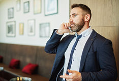 Busy conversation Royalty Free Stock Image