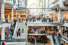 Busy corridor in Eaton Center Stock Image