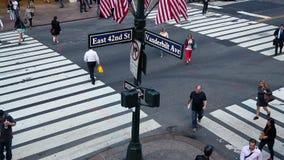 Busy crossing, Manhattan stock footage