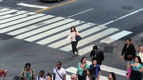 Busy crossing, Manhattan stock video