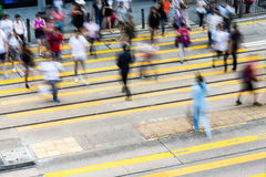 Busy Crossing Street Stock Photo