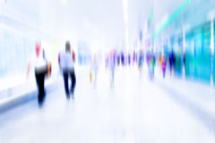 Busy crowd of people walking in metro station, Royalty Free Stock Image