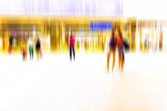 Busy crowd of people walking in metro station, Stock Photography