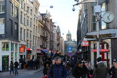 The busy Dam square. The bust dam square, amsterdam, netherlands Royalty Free Stock Image