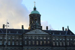 The busy Dam square Royalty Free Stock Photos