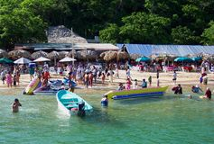 A Busy Day-Huatulco Mexico Royalty Free Stock Photos
