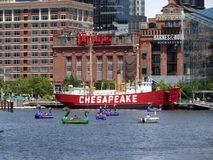 Busy Day at the Inner Harbor Stock Photos