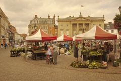 A busy day at Newark-on-Trent market. Stock Photography