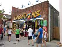Busy Day at Rehoboth Beach stock images