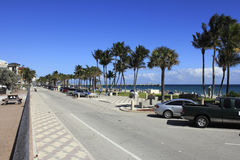 Busy Deerfield Beach Stock Photo