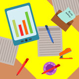 Busy desk Royalty Free Stock Photos