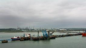 Busy docks Royalty Free Stock Photo