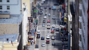 Busy Downtown San Francisco. Tilt Shift / Time Lapse of Traffic on Market Street San Francisco stock video footage