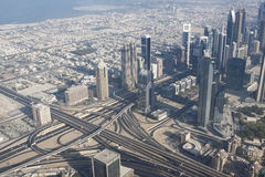 Busy Dubai from above Stock Photography