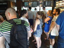 Busy Dupont Circle Starbucks Stock Image