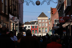 Busy Dutch street Stock Photography