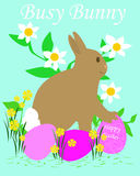 Busy Easter bunny Stock Photography