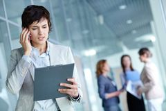 Busy employer Stock Images