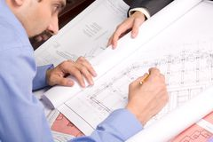 Busy engineer Stock Photography