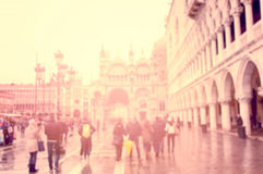 Busy european street Stock Image