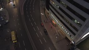 Busy Evening in the city, nightlight, cars on the road stock video footage