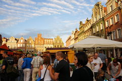 Busy fair in Poznan Stock Photo