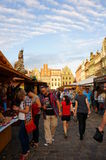 Busy fair in Poznan Royalty Free Stock Photography